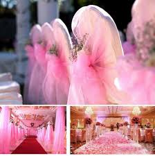 100 meter roll crystal organza sheer fabric wedding party
