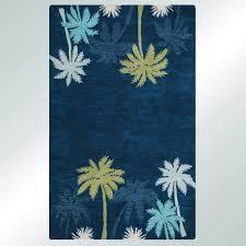 mesmerizing indigo blue tropical palm tree area rugs