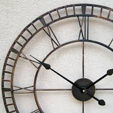 furniture large metal wrought iron hampton oversized wall clock