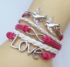 silver infinity bracelet with charms images Diy fashion cute infinity charm color combination bracelet jpg