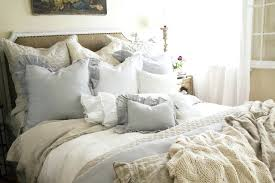 White Ruffled Comforter Bedding Ideas Compact Shabby Chic Ruffle Bedding Bedroom Interior