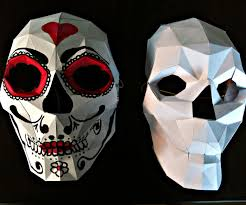 halloween paper mache masks bonus papercraft skull mask 5 steps with pictures