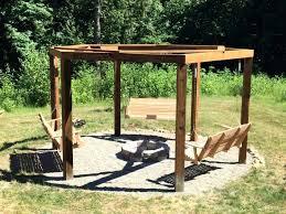 Firepit Swing Pit Gazebo Outdoor Kitchen Pavilion Designs Best Ideas On
