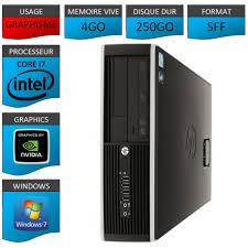 ordinateur de bureau reconditionné hp elite 8100 sff ordinateur de bureau reconditionné intel i7