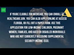 how do i apply for medicaid in florida youtube