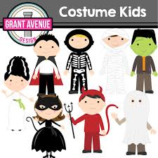 grant avenue design halloween costume kids clipart