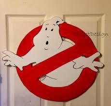 ghostbusters halloween sign party door wall window hanging
