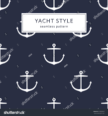 anchor wrapping paper seamless anchor navy blue pattern yacht stock vector 618600659