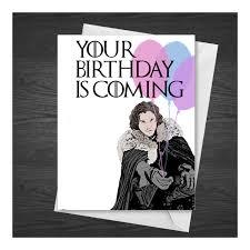 of thrones birthday card jon snow birthday card of thrones got by lazykitsch on etsy
