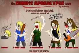Zombie Apocalypse Meme - zombie apocalypse by blackbeebee on deviantart