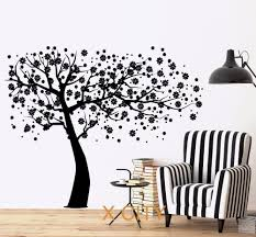 online get cheap wall transfer stickers aliexpress com alibaba cherry tree flower wall decal sticker removable vinyl transfer stencil mural home room decor s m l