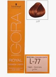 igora hair color instructions schwarzkopf igora royal fashion light hair colour copper l 77 rs 730
