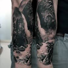 pin forest waterfall tattoos