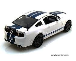 white mustang blue stripes 2013 ford shelby gt500 top sc394w 1 18 scale shelby wholesale