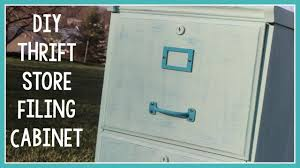 How To Paint A Metal File Cabinet Diy Thrift Store Filing Cabinet Youtube