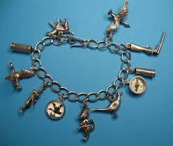 themed charm bracelet vintage sterling silver themed charm bracelet from