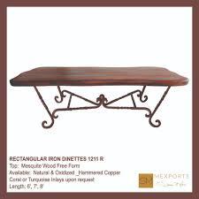 Iron Base Dining Table 030 Rectangular Dining Table Iron Chocolate Finish Copper