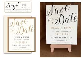 Calligraphy Wedding Invitations Script Collection Bespoke Wedding Stationery Wedding