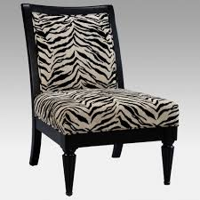 Zebra Accent Chair Chairs Black And White Zebra Pattern Accent Chair Print Wingback