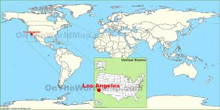 san francisco map of usa los angeles on the world map