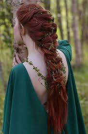 celtic warrior hair braids medieval ish inspired hairstyle fresh flowers really make the