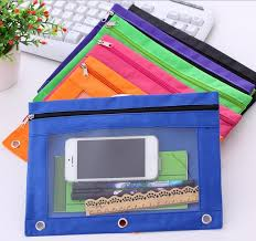 pencil pouch 1 multi colors 3 ring binder zippered pencil pouch with clear