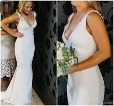 plain white wedding dresses plain simple white wedding dresses popular wedding dress 2017