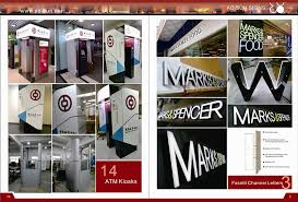 outdoor advertising aluminum acrylic channel letters signs led