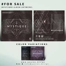 for sale mystique album cover template psd by quarexdesign on