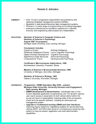 Programming Resume Examples by The Best Computer Science Resume Sample Collection