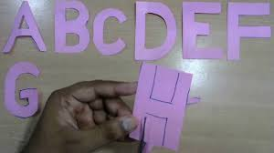 learn alphabet h alphabets paper cutting easy craft work for