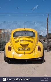 yellow volkswagen beetle royalty free volkswagen beetle walvis bay namibia africa stock photo