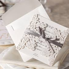 free wedding invitation sles customizable hollow lace wedding invitation card with supplies
