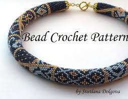 crochet beading necklace images Pattern for bead crochet necklace jpg