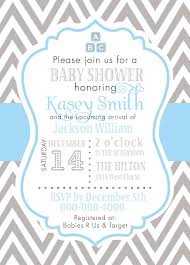 blue and gray baby shower invitations baby shower diy