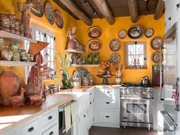 Mexican Kitchen Ideas by Rustic Chic Home Decor Mexican Theme Kitchen Mexican Kitchen Art