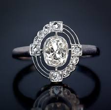 deco engagement ring deco diamond and platinum vintage engagement ring antique