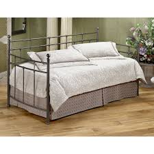Iron Full Size Daybed With Trundle And Skirt Decofurnish