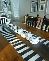 make your own table runner easy diy striped drop cloth table runner guest post and a 50