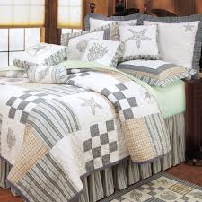beach themed bedding with nice refreshing colors bedroom nautical bedroom grey and white starfish bedding set with pillows added by starfish pattern rug on laminate