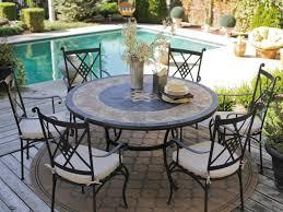 patio 19 beautiful round patio dining set in interior design