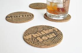 Beverage Coasters Diy Kit Typographic Drink Coasters Coaster Design Scissors And