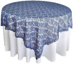 Navy Blue Table Runner Navy Blue Lace Table Overlays Topper Wedding