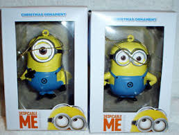 despicable me dave and carl minions set of 2 ornament