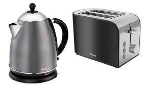 Black Kettle Toaster Set Swan Retro Kettle And Toaster Set Groupon Goods