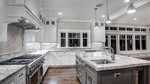grey kitchen countertops with white cabinets white granite countertops for a fantastic kitchen decor