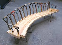 curvy bench repurposing upcycling and gardens