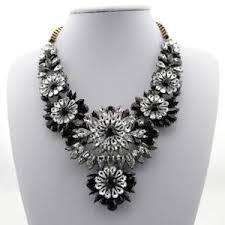 large black beaded necklace images Black necklace ebay JPG