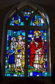 stained glass church windows description grouville church