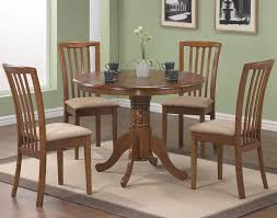 Pedestal Oak Table And Chairs Solid Rubber Wood Round Dining Furniture Stores